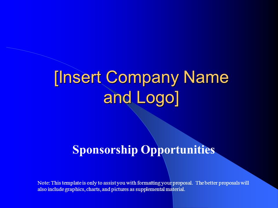 [Insert Company Name and Logo]